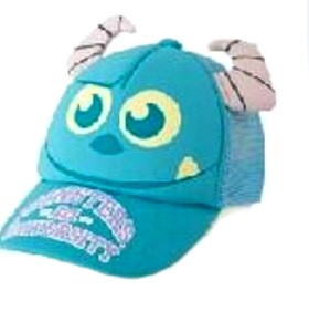 topi 3 dimnesi monster biru