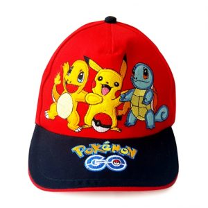 topi pokemon n friends merah