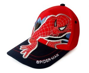 topi spiderman merah