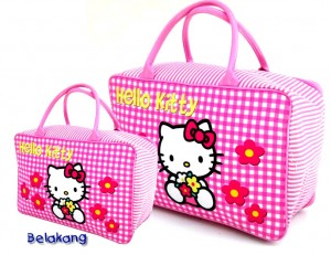 tas travel tenteng kanvas hk square pink