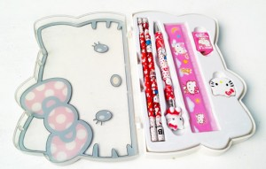 set tulis kepala hello kitty