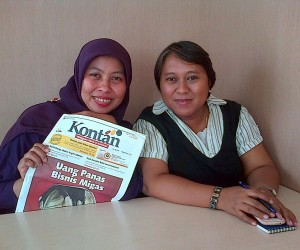 bunda dan ibu sri yekti, wartawan senior Tabloid Kontan