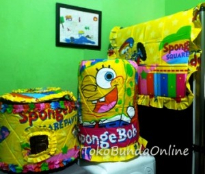 tutup galon, kulkas dan Magic com GKM Spongebob Rainbow
