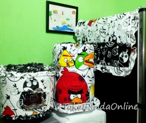 galon kulkas magic Angry Bird hitam putih