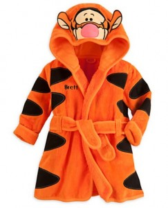 bathrobe disney tiger