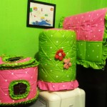 tutup galon set GKM Doti Pink Mix