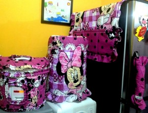 Tutup Galon, tutup kulkas, tutup magic com (GKM)  Minnie polka pink