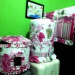 tutup galon kulkas set gkm pink flower