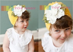 cute hat kuning polkadot 300x214 Cute Hats (Topi Lucu)