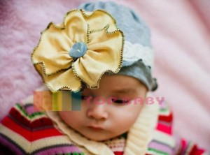 cute hat silver yellow flower 300x222 Cute Hats (Topi Lucu)