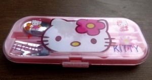 sendok set hello kitty rz 300x158 Set Makan Lucu