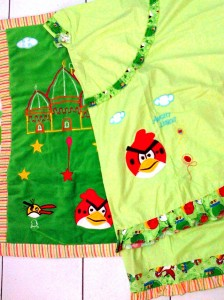 mukena angry bird hijau 224x300 Mukena Anak Lucu