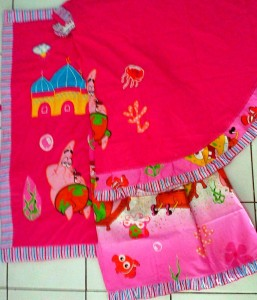 mukena spongebob pink 257x300 Mukena Anak Lucu