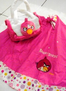 Muekna Angry Bird Pink 218x300 Mukena Anak Lucu