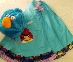 Mukena Angry Bird + Tas Boneka 300x254 Mukena Anak Lucu