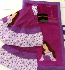 Mukena Princess Ungu 279x300 Mukena Anak Lucu