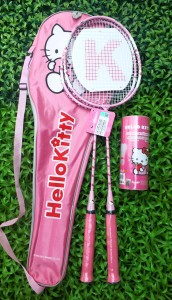 set Bulu Tangkis Hello Kitty