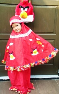 mukena angry bird merah model 189x300 Mukena Anak Lucu