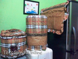 Tutup galon Kulkas Magic (GKM) Burberry Klasic Coklat