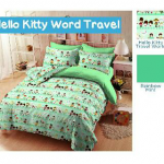 Sprei Hello Kitty Word Travel