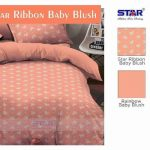 Sprei Dewasa Star Ribbon Baby Blush