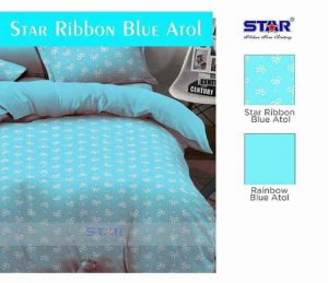 Sprei Dewasa Star Ribbon Blue Atol