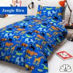 sprei jungle biru