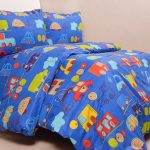 sprei little driver biru