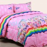 sprei little pony rainbow pink