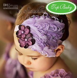 Head band Ungu Claudia 295x300 Cute Headband   Bandana anak Lucu
