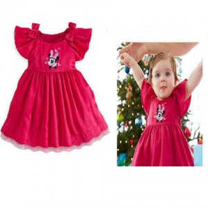 Dress Minnie Lengan Pita 80-120