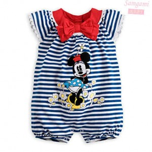 baju baby jumper samgami minnie blue stripe jumper sz 80,90,95.