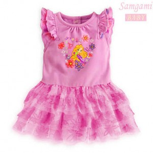 baju anak princess flower samgami dress  80,90,100,110,120.