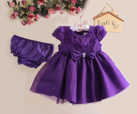 PURPLE BOW FLOWER PARTY SETS