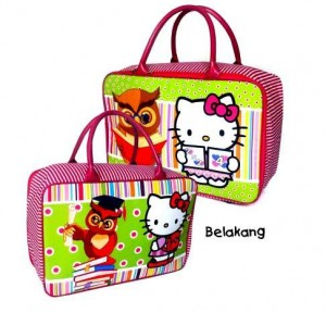Tas Travel Tenteng Canvas Hello Kitty Owl