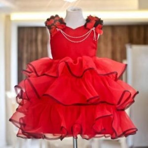 baju dress merah renda