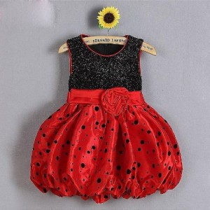 baju dress balon hitam merah