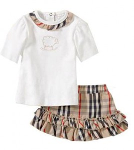 baju anak dress burberry rok