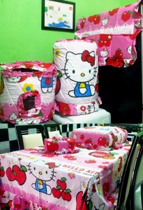 homeset hello kitty apel
