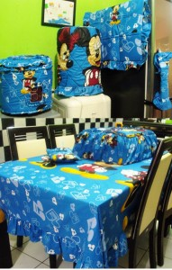 homeset mickey music biru