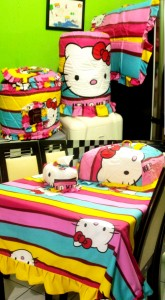 homeset hello kitty  hk pelangi