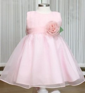 dress Pesta anak pink flower dress size 90-130. 5x89.500