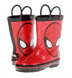 sepatu Boot Spiderman boot,size 3-8th