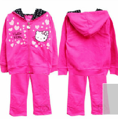 taring Hello Kitty Set  Baju Anak lucu