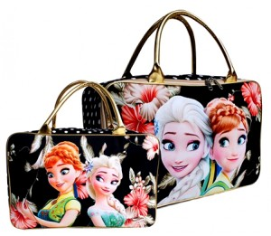 tas travel kanvas frozen fever hitam