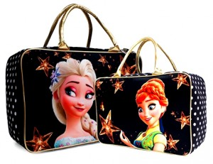 tas travel kanvas frozen fever star hitam