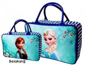 tas travel kanvas frozen flower toska elsa anna rz