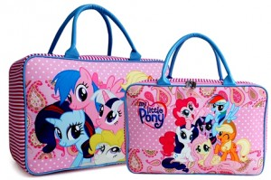 tas travel kanvas little pony pink