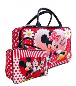 tas travel kanvas minnie mouse