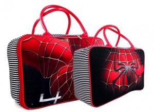 tas travel kanvas spiderman